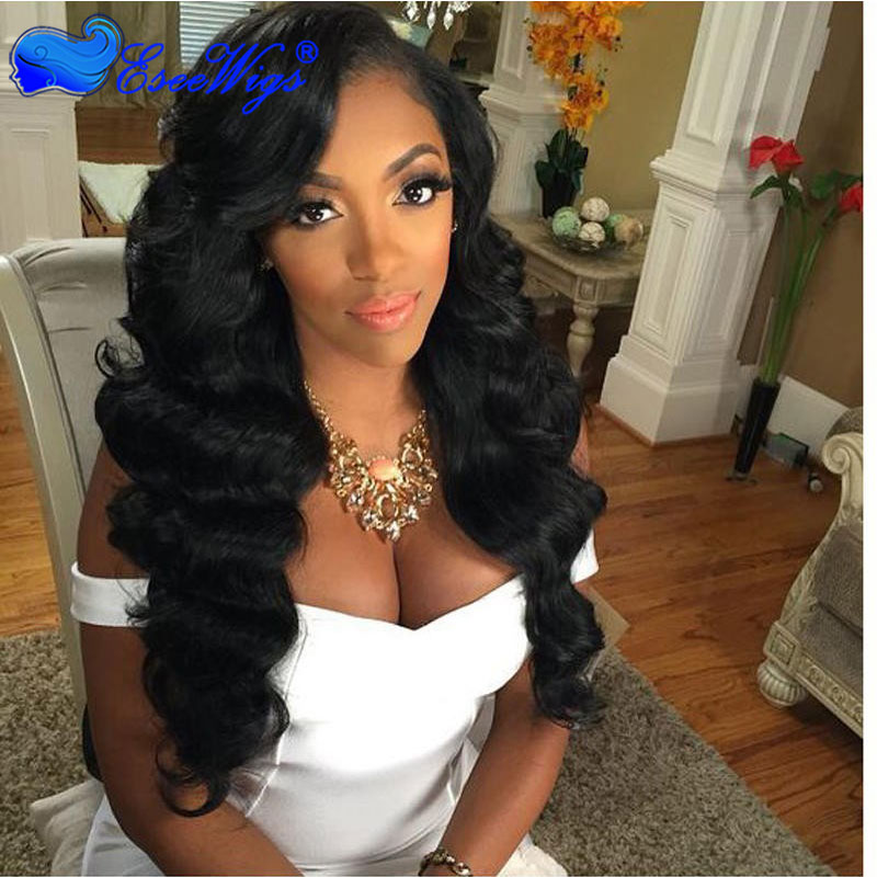 360 Circular Lace Wigs Loose Wave 180% Density Full Lace Wigs for Black Women Human Hair Wigs
