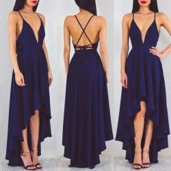 A-line Spaghetti-StrapS Hi-Lo Sexy Sleeveless Prom Dress_Prom Dresses 2017_Prom Dresses_Special  ...