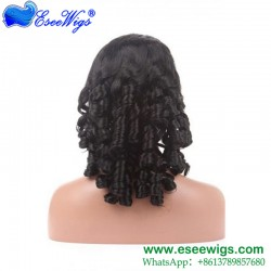 Best Full Lace Wig Companies Spiral Curl 100% Human Hair Peruvian Remy Hair Swiss Lace For Black ...