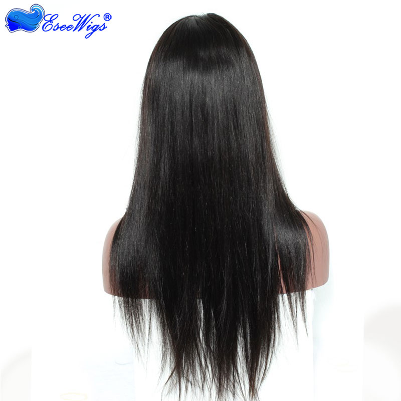 Full Lace Wigs For Black Women Brazilian Silk Straight Human Hair Wigs Gossip Non Remy Swiss Lac ...