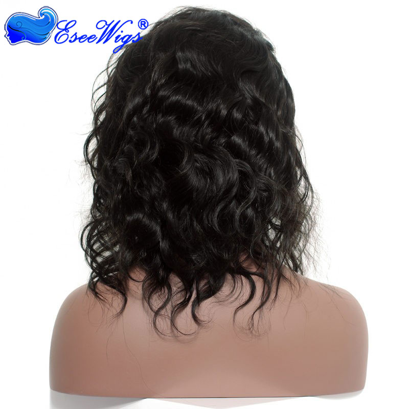 African American Full Lace Human Hair Wigs With Baby Hair 150% Density Natural Wave Virgin Hair  ...