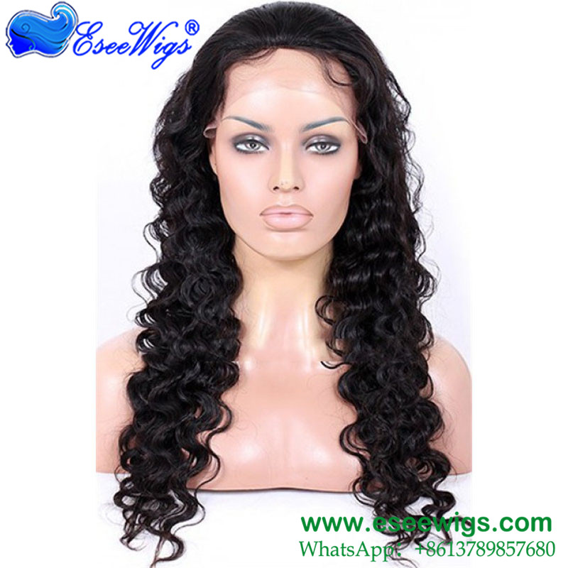 Best Full Lace Human Hair Wigs Malaysian Wig With Natural Hairline Baby Hair 130% Density