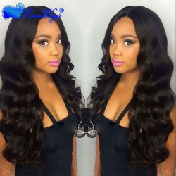 Full Lace Human Hair Wigs For Black Women Pre Plucked Brazilian Remy Hair