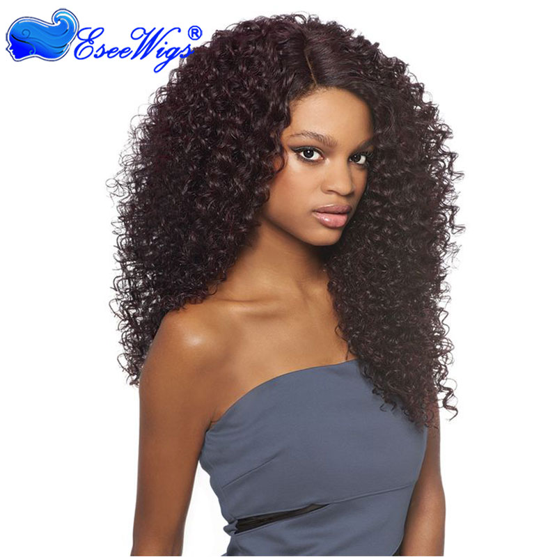Kinky Curly 250% Density Full Lace Wigs Brazilian Virgin Hair Lace Front Human Hair Wigs Natural ...