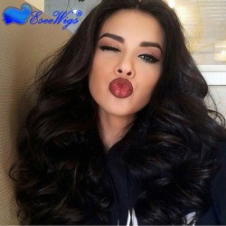 250% Density Glueless Lace Front Wigs Full Lace human Hair Wigs Brazilian Virgin Human Hair Body ...