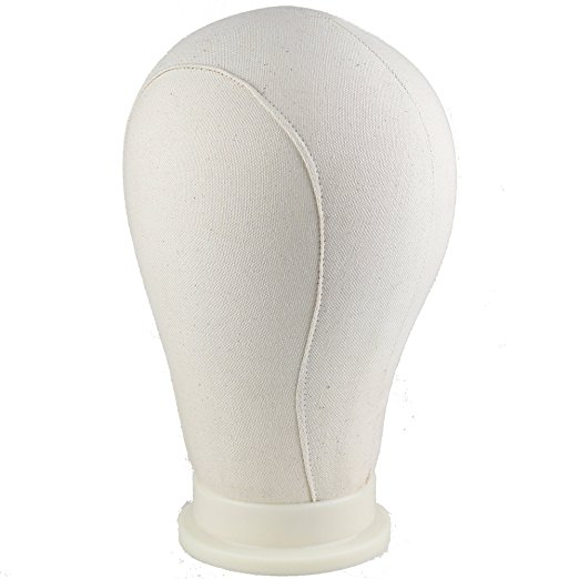 Water Repellant Canvas Wig Head for Wig Making Styling and Display Premium Quality Wig Stand