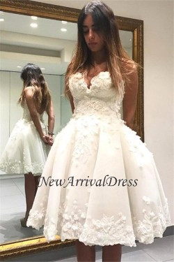 Lace Short Charming Appliques Sweetheart Homecoming Dress_2017 Homecoming Dresses_Fashion Specia ...