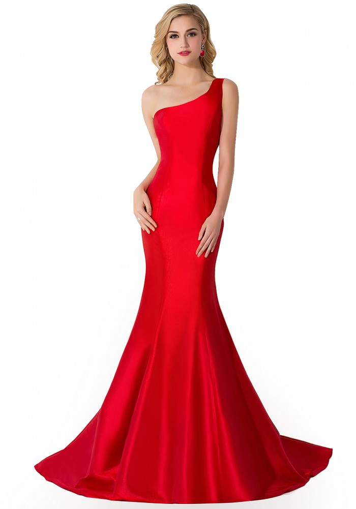 AILEEN | Mermaid One Shoulder Satin Evening Dress