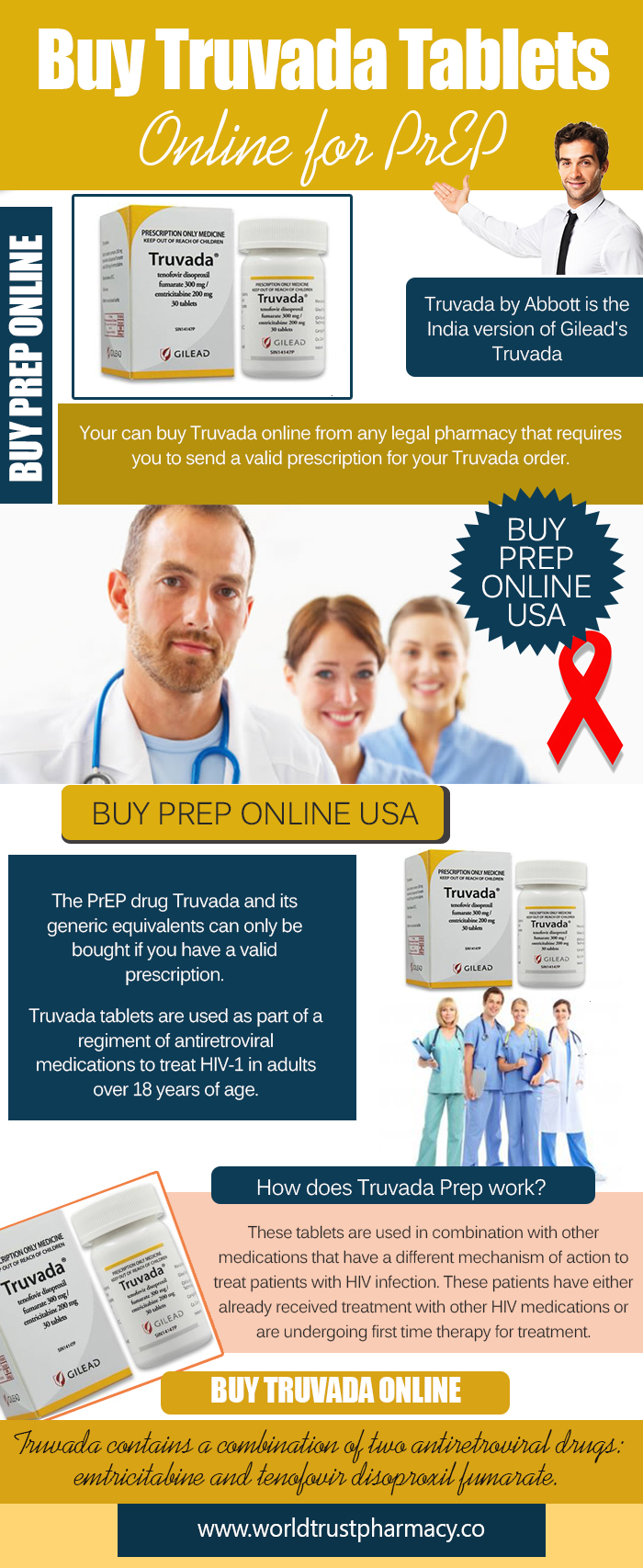 Buy Truvada Tablets Online for PrEP