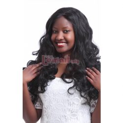 60cm Black Long Wave Curly Women Lace Front Wig LC41 – L-email Cosplay Wig
