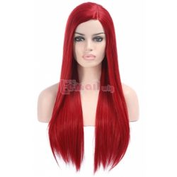 Women Long Straight Red Lace Front Wig LC92 – L-email Cosplay Wig