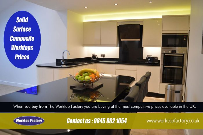 Solid Surface composite worktops prices