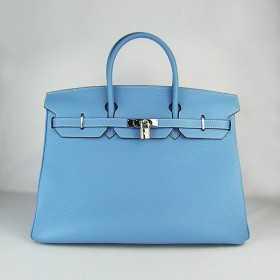 Hermes Kelly 35cm Togo Leather Bags Light Blue hermes-birkinbags.com