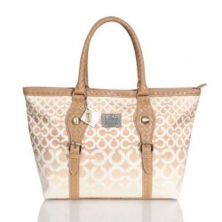Coach City Logo Large Brown Hobo Canada DRC720 coach-outletonline.name