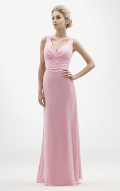 Custom Made Chiffon Pink Bridesmaid Dress BNNBC0007