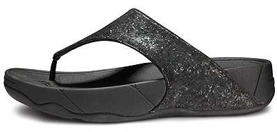 Fitflop 2018 New Womens Bijoo Hollow Drill Grey Gem Black fitflops.name