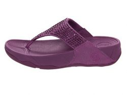 Fitflop Rokkit Suede Purple Women Sandals fitflops.net