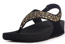 Fitflop Pietra Women Black Sandals Sale fitflops.net
