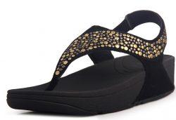 Fitflop Pietra Women Black Sandals Sale fitflops.net
