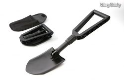large grip tri-folding shovel