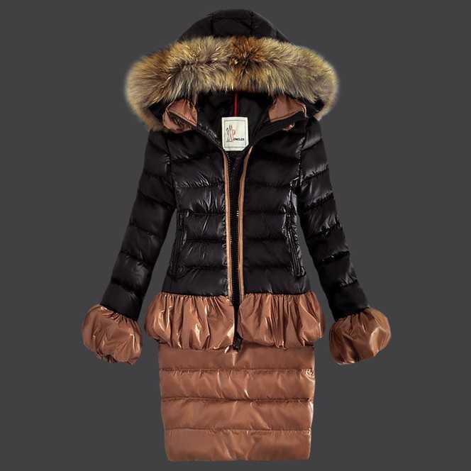 Buy Blue Women Down Fur Cap And Waistband Slim Warm Coats Outlet Moncler Jackets monclersale.us.com