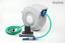 retractable hose reel with adjustable nozzle