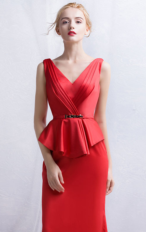 online-long-red-bridesmaid-dress