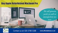 Buy Apple Refurbished Macbook Pro