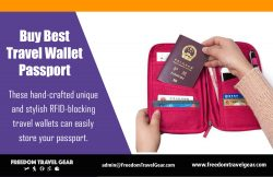 Buy Best Travel Wallet Passport | https://www.freedomtravelgear.com/