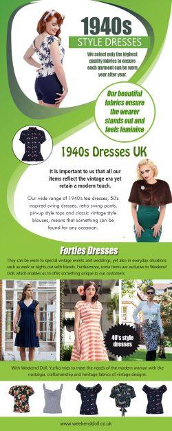 1940s tea dresses | https://www.weekenddoll.co.uk/collections/tea-dresses