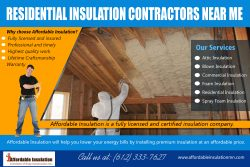 Residential Insulation Contractors Near Me | affordableinsulationmn.com