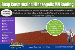 Snap Construction Minneapolis MN roofing
