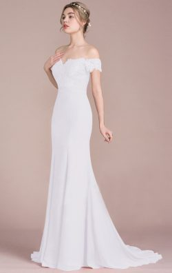 Online Long Ivory White Bridesmaid Dress