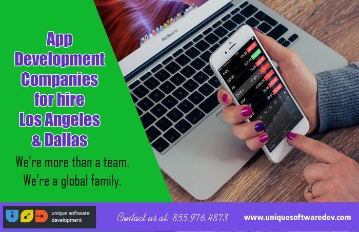 App Development Companies for hire Los Angeles & Dallas