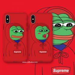 シュプリーム ブランド スマホケース アイフォンXSケース レッド 個性 SUPREME iPhoneXSPlusカバー カ ...