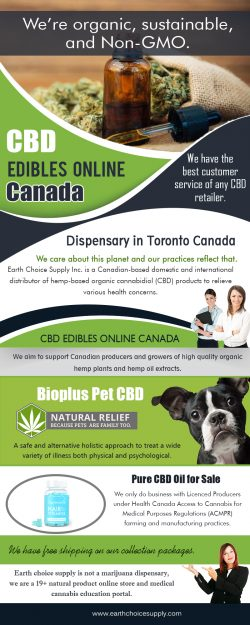 CBD Edible Online Canada | Call Us – 416-922-7238 | earthchoicesupply.com