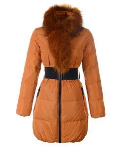 Moncler Adour Euramerican Style Women Jackets Belt Blue moncleronline.net