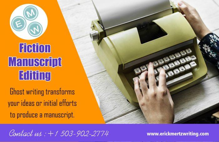 Fiction Manuscript Editing | erickmertzwriting.com