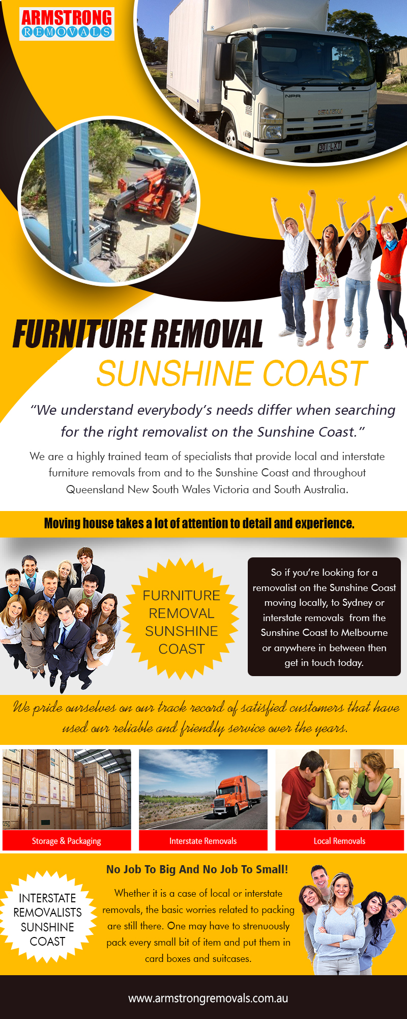 Furniture Removals Sunshine Coast | armstrongremovals.com.au