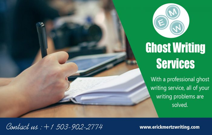 Ghost Writing Services | erickmertzwriting.com