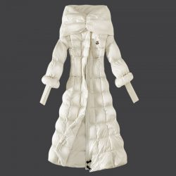 Moncler Long Coats For Women Fur Collar Black Sale moncler-jacketsonsale.com