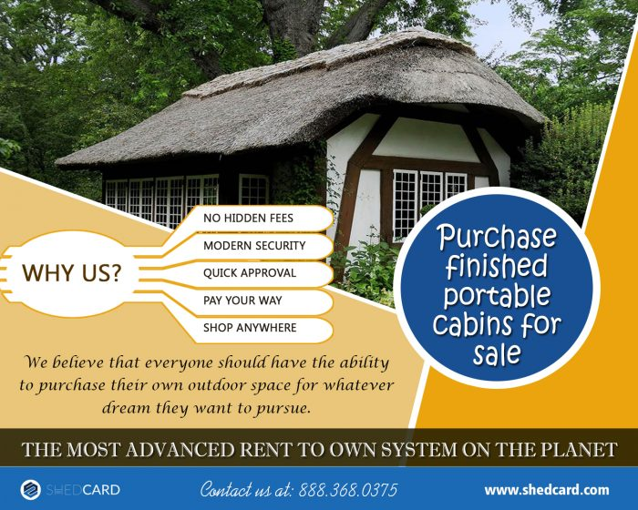 Purchase Finished Portable Cabins For Sale | 888.368.0375 | shedcard.com