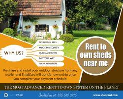 Rent To Own Sheds Near Me   888.368.0375   shedcard.com