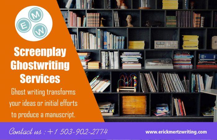 Screenplay Ghostwriting Services   erickmertzwriting.com