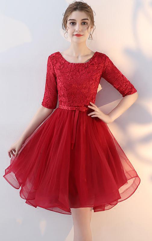 Online short Dark Navy Bridesmaid Dress
