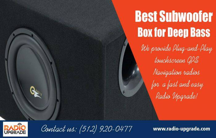 Best Subwoofer Box for Deep Bass|https://radio-upgrade.com/