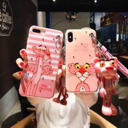 オリジナル アイフォンXケース 可愛い ピンクパンサー柄 iphone8 plusケース カッコイイ iphone7カバー ...
