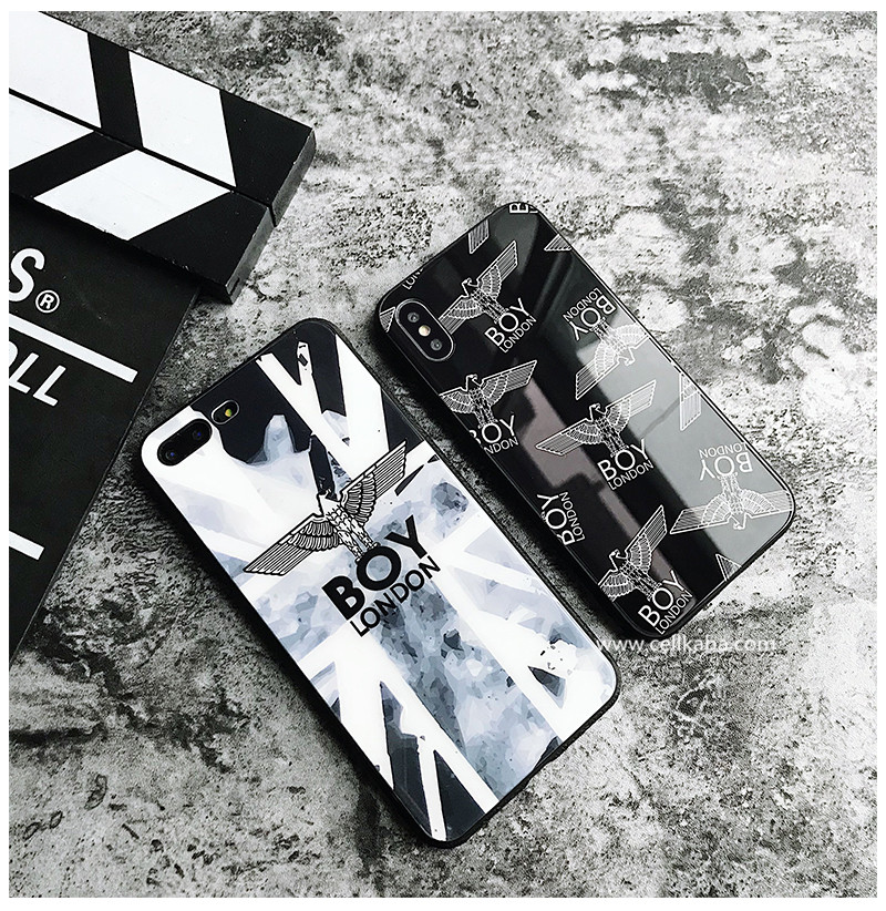 ボーイロンドン iphoneX plus ケース 強化ガラス アイフォン8/7 プラスカバー メンズ向け ポップ風 BOY ...