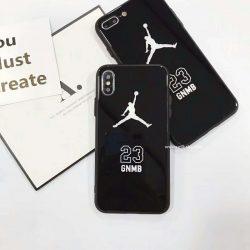 AIR JORDAN iphoneX plusケース エアジョーダン iphone8/7カバー 強化ガラス iphone7PLUSケース かっこ ...