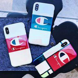 チャンピオン iPhoneXケース 鏡面 iPhone8/7plus 携帯ケース Champion アイフォン7/6プラスケース スト ...